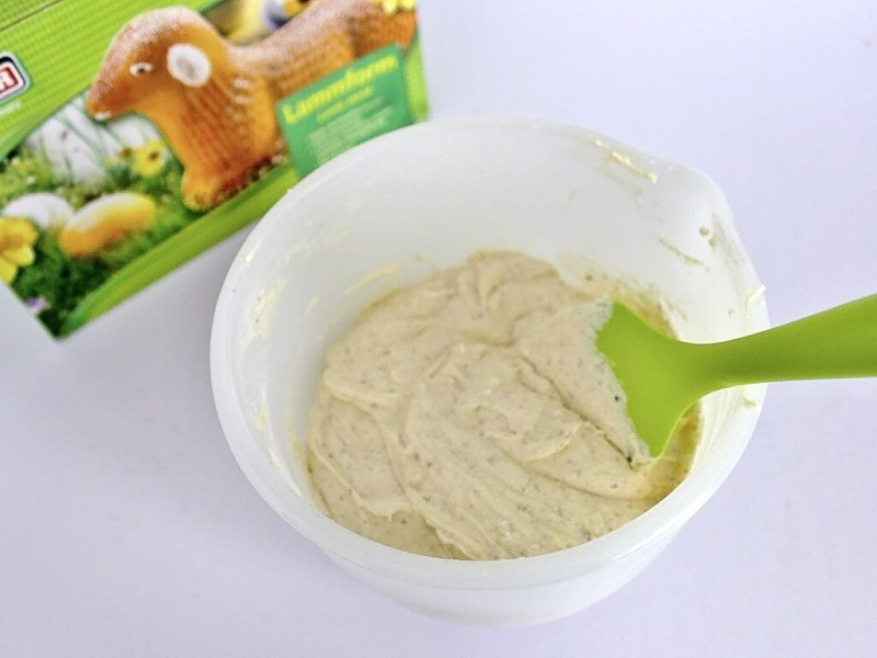 Cake mixture ready to fill mold