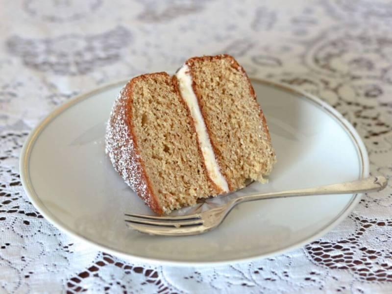 A slice of my old-fashioned Ginger Sponge.