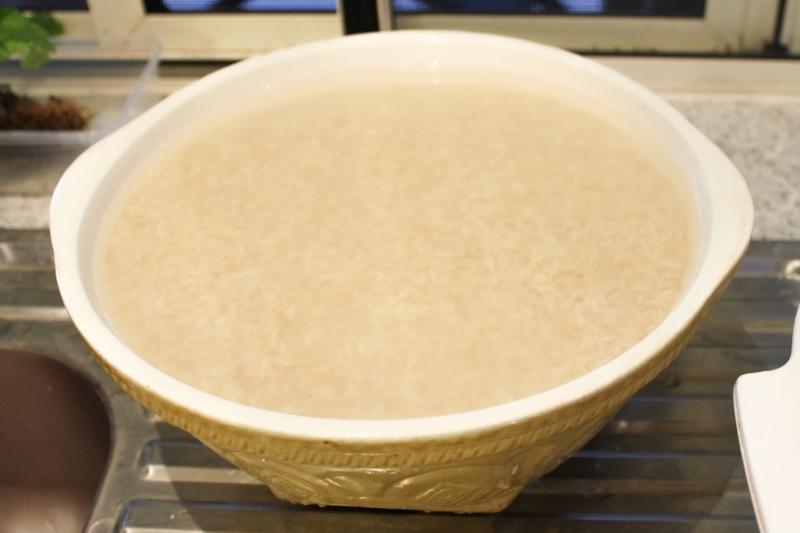 Wash and soak the basmati rice.