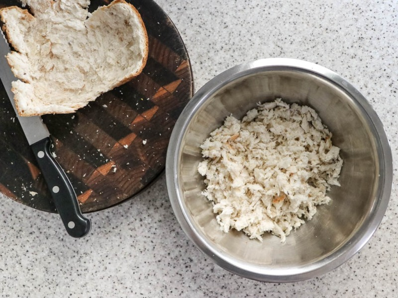 Make the soft breadcrumbs.