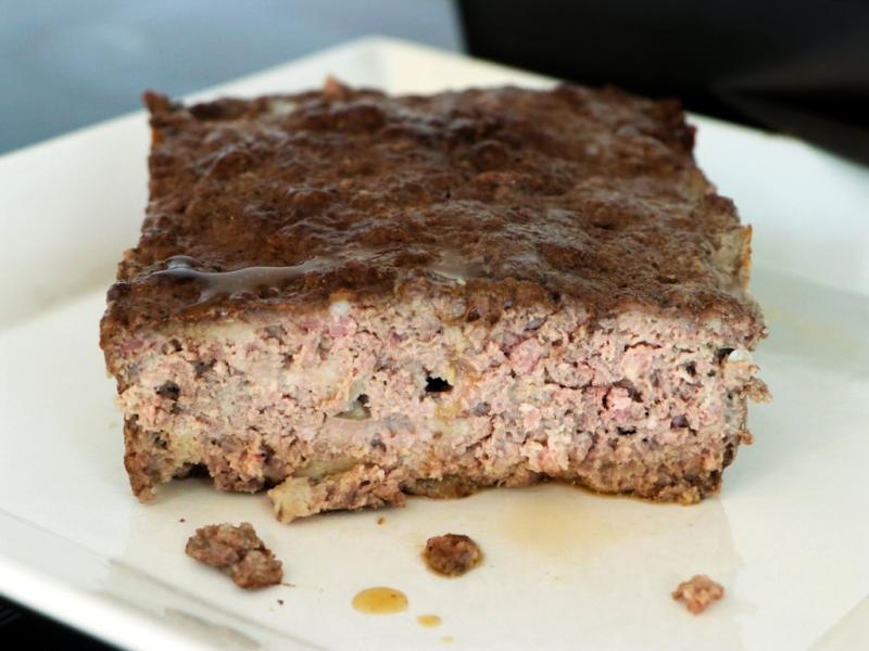 Slice and serve the meatloaf.