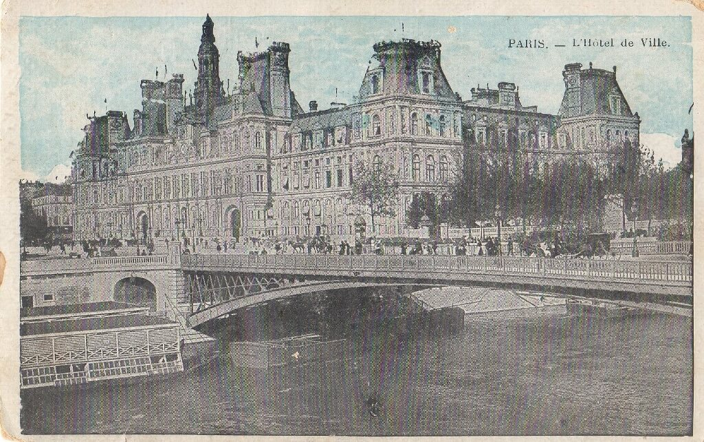 1918, 1 May. Harry's postcard to Flora, from Paris.