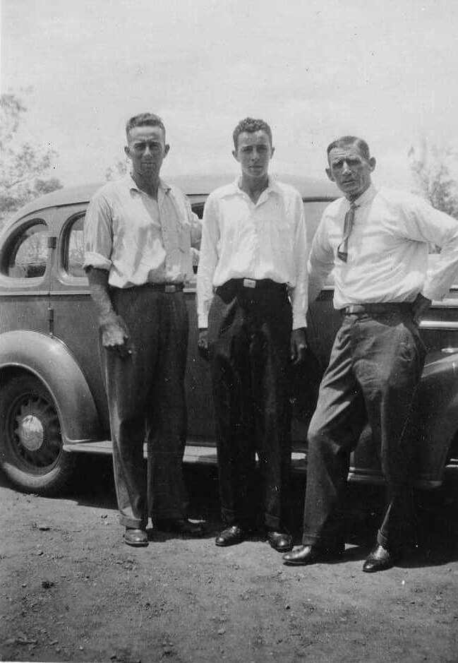 c.1935. Henry (at right) with two of his nephews. Photo source: Beaumont Family archives.
