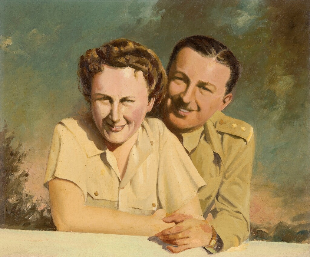 Bill and Evelyn Proposch, oil painting by Charles Proposch, 1945.