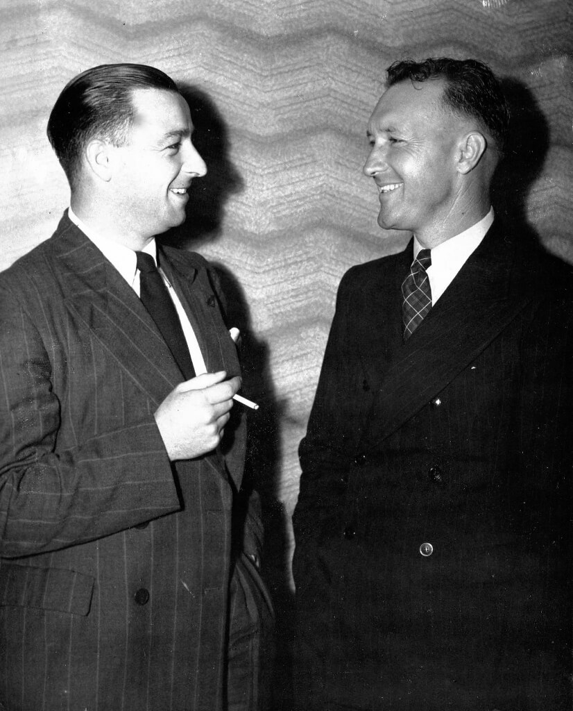 January 1946: The two Messrs William Proposch. Photograph source: Public domain.