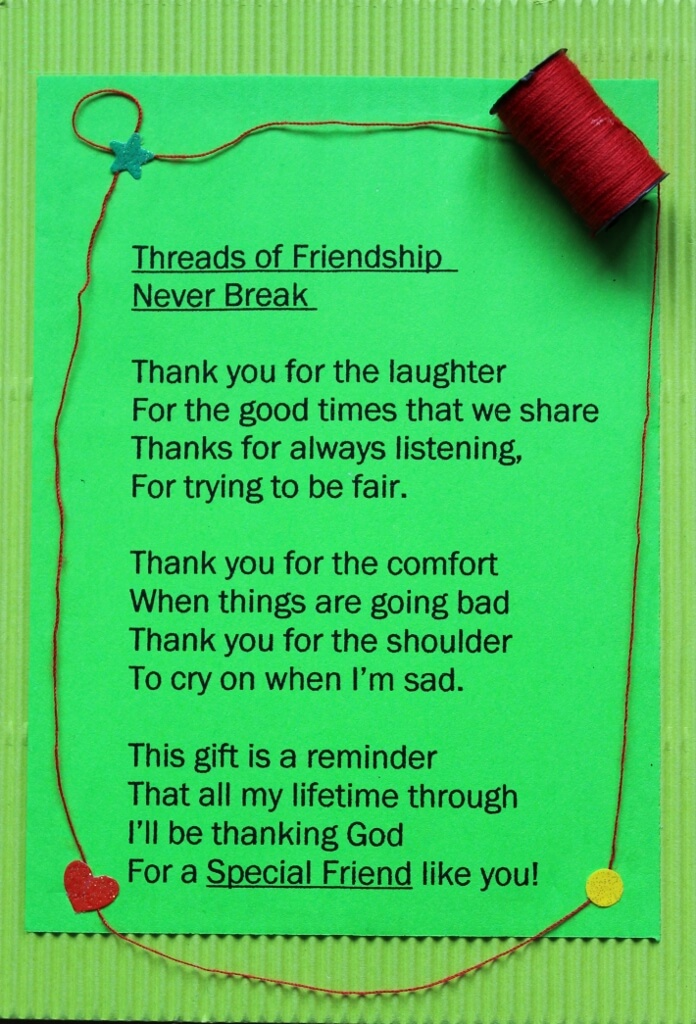 Threads of friendship gift card