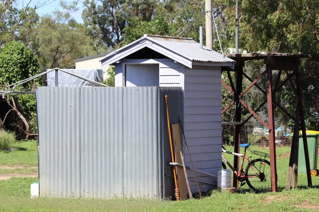 """A typical Queensland outhouse, which housed the """"dunny""""."""