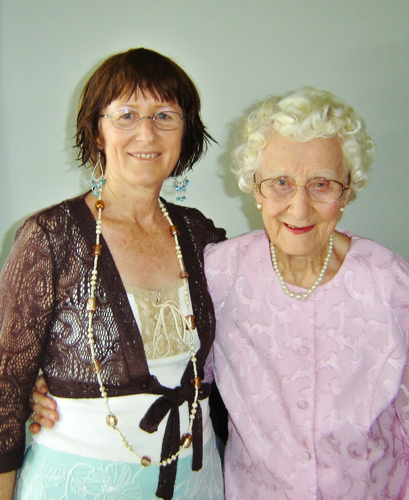 With my mum on her 90th birthday. Photo source: Tony Salecich 2006.