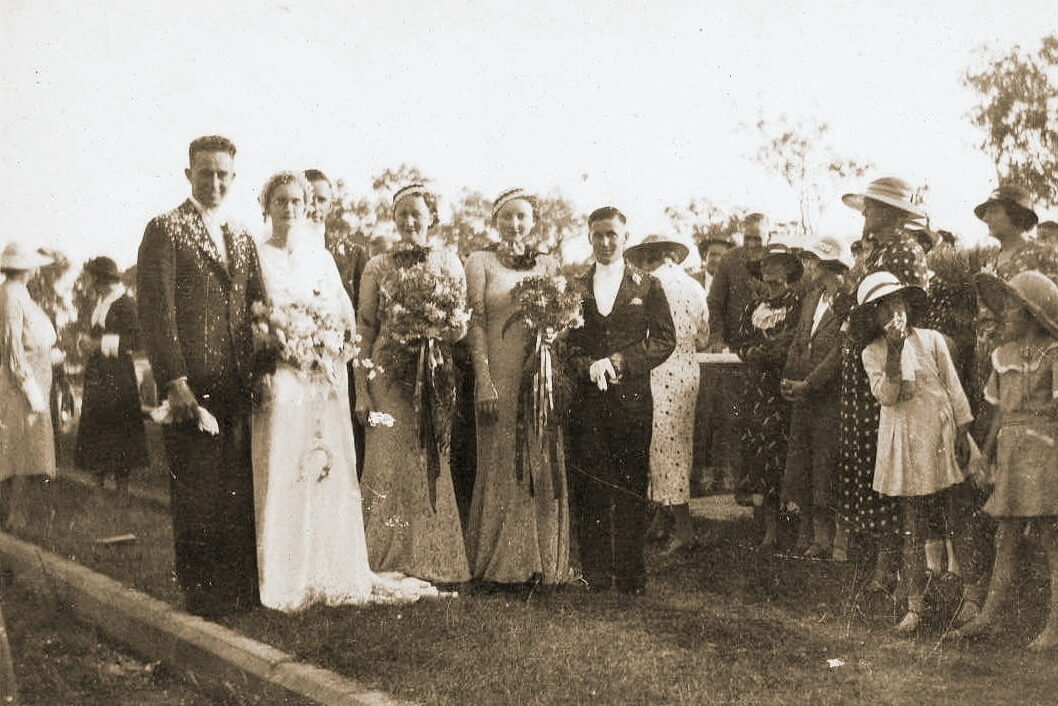 May 1937: Harold and Dulcie on their wedding day