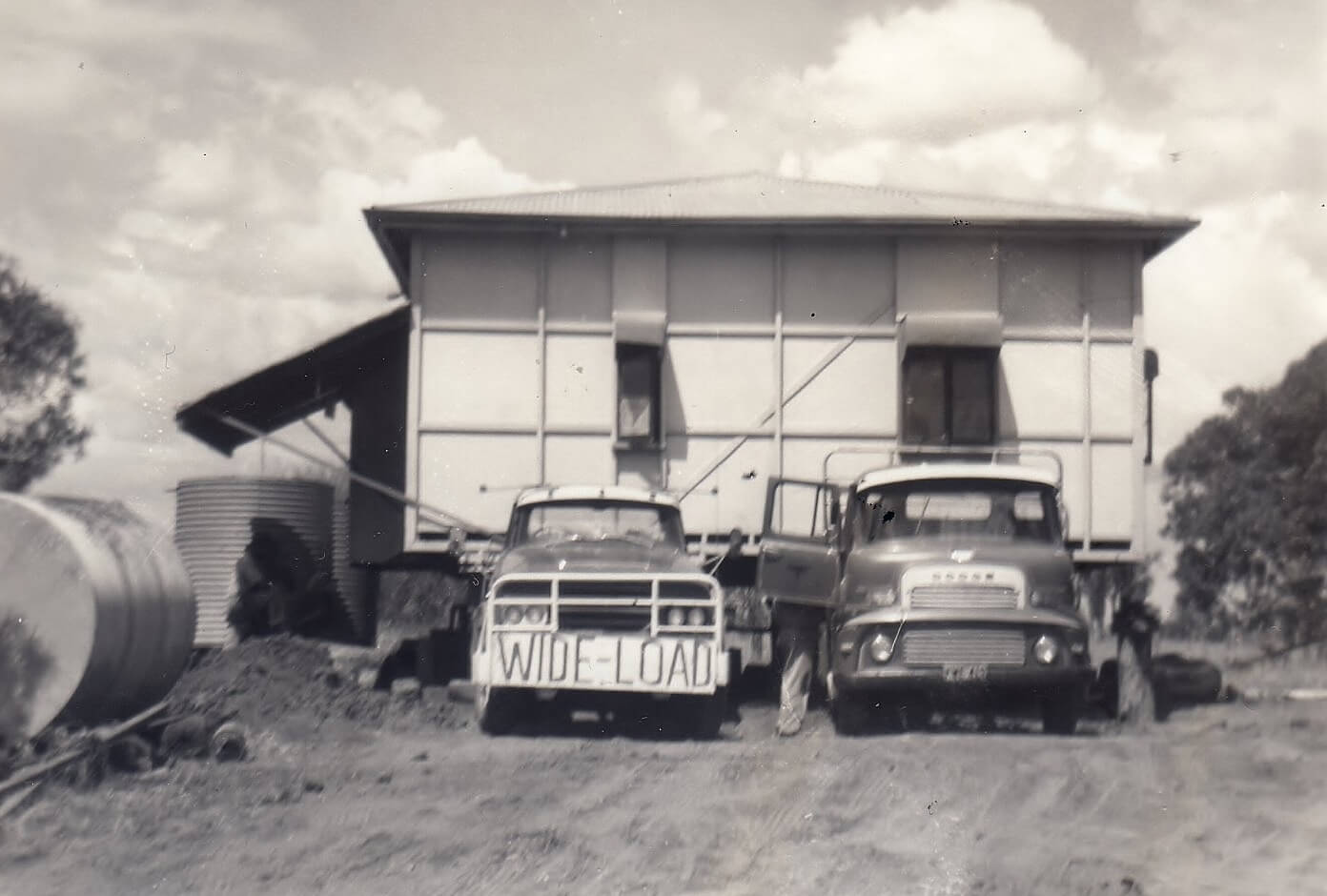 1960s: Moving a house to the new property