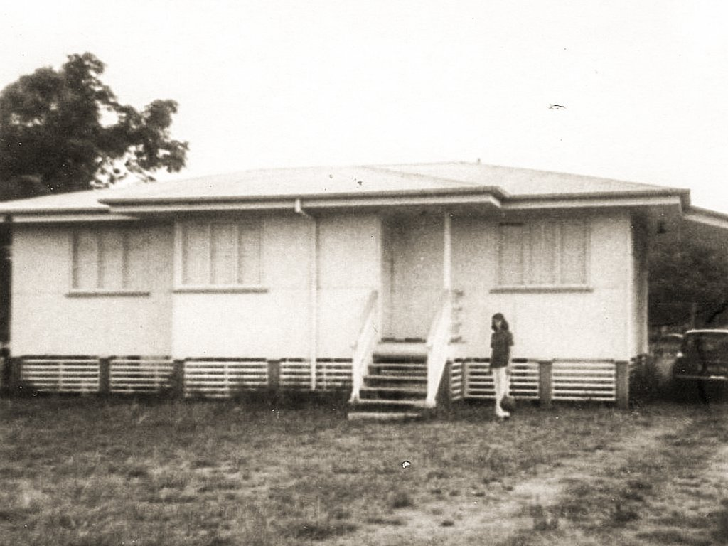 1974. Our rented schoolhouse, Bluff. Photo source: Salecich Family archives.