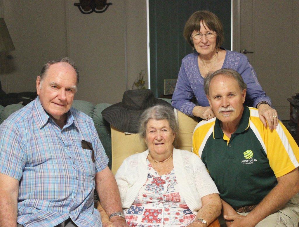 2016 April. Alwyn, Fay, Judy, Tony. Photo source: Salecich Family archives.