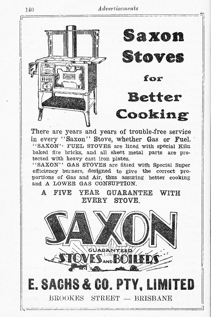 1934 Advertisement for combustion stove.