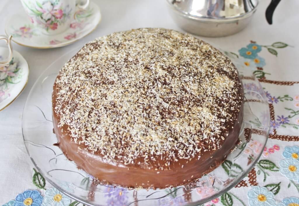 Kentish cake using Evelyn's recipe. Photo source: Judith Salecich 2016.