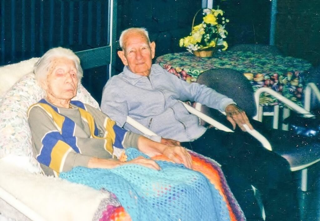 Ben with Elsie at Bethany, 5 June 2000