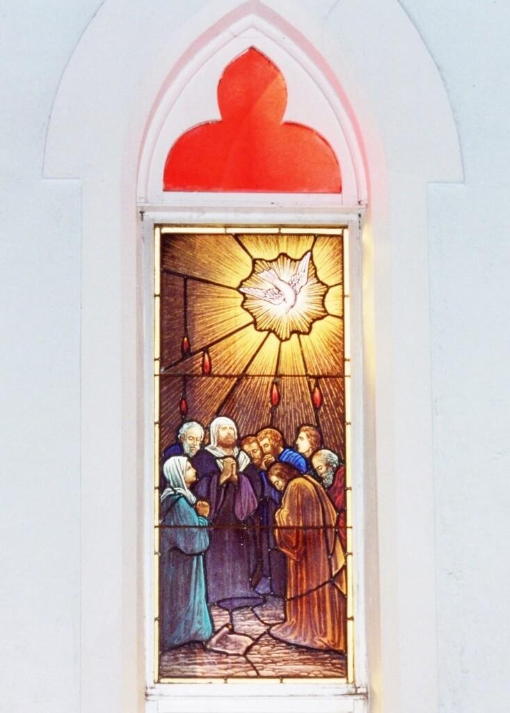 Stained glass window, St Andrew's Presbyterian Church Rockhampton