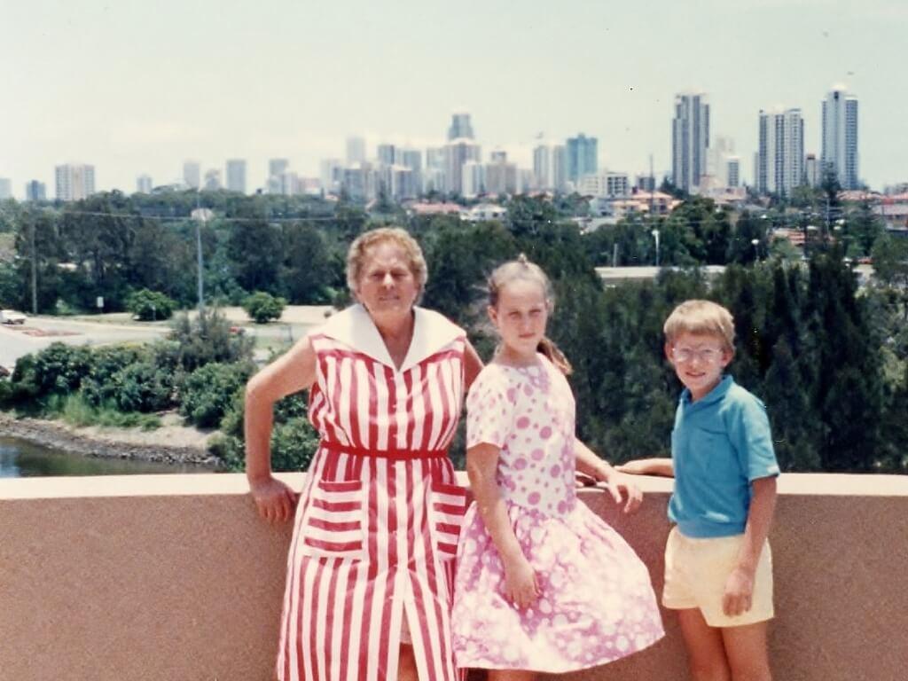 Baba, Ruth and Daniel, December 1987