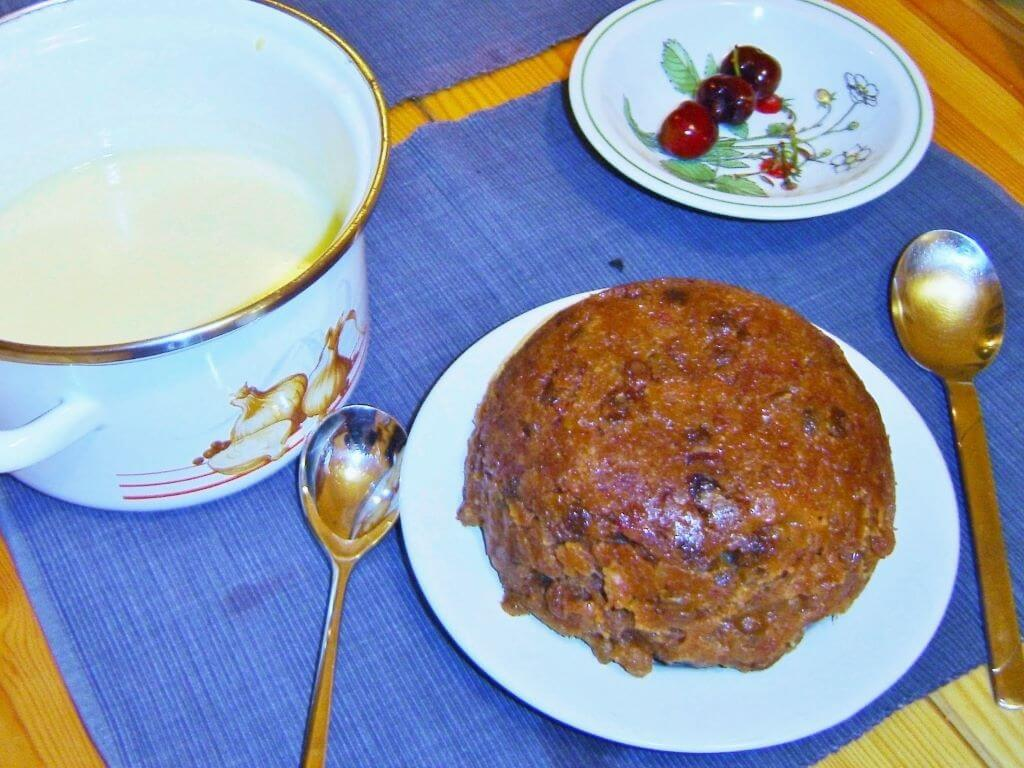 Fail-Me-Never Steamed Pudding as a Christmas pudding. Photo source: Judith Salecich 2004.