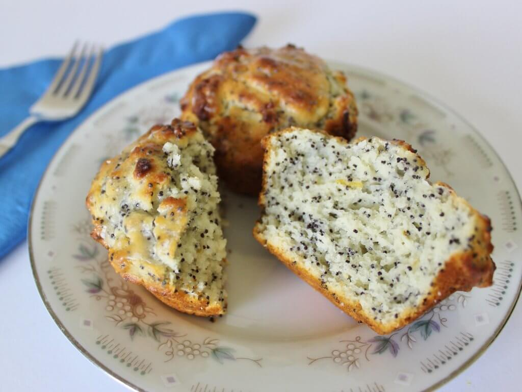 Lemon Yoghurt Muffins (with poppyseeds). Photo source: Judith Salecich 2016.