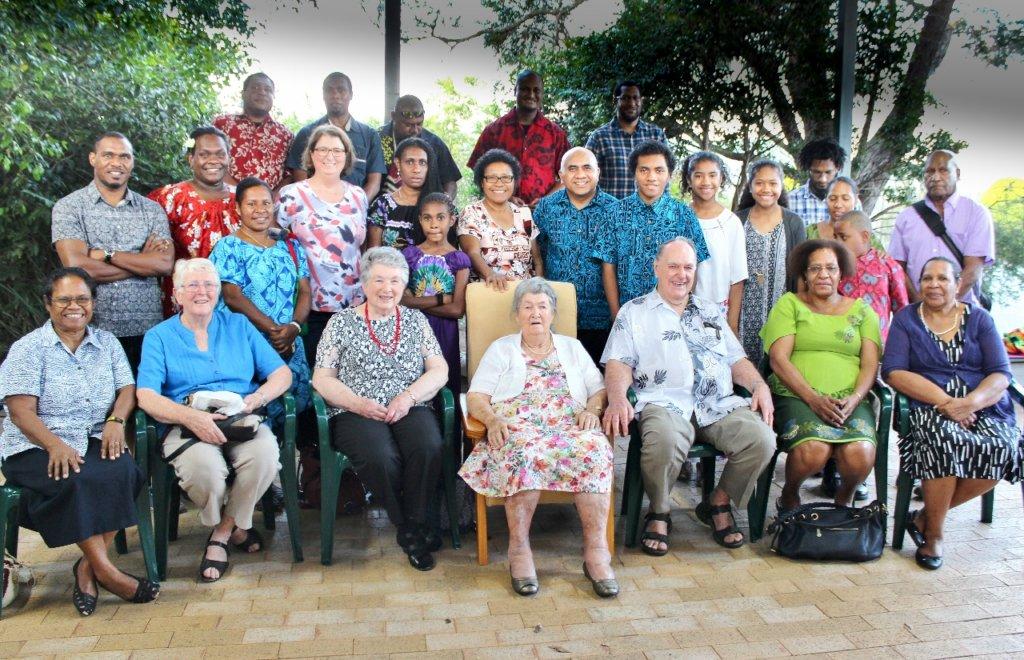 The entire Neuendorf Family. Photo source: Judith Salecich 2016.