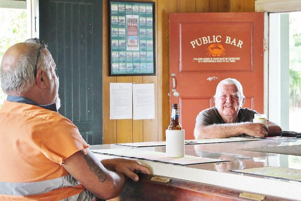 Patrons in the Koumala Hotel Bar