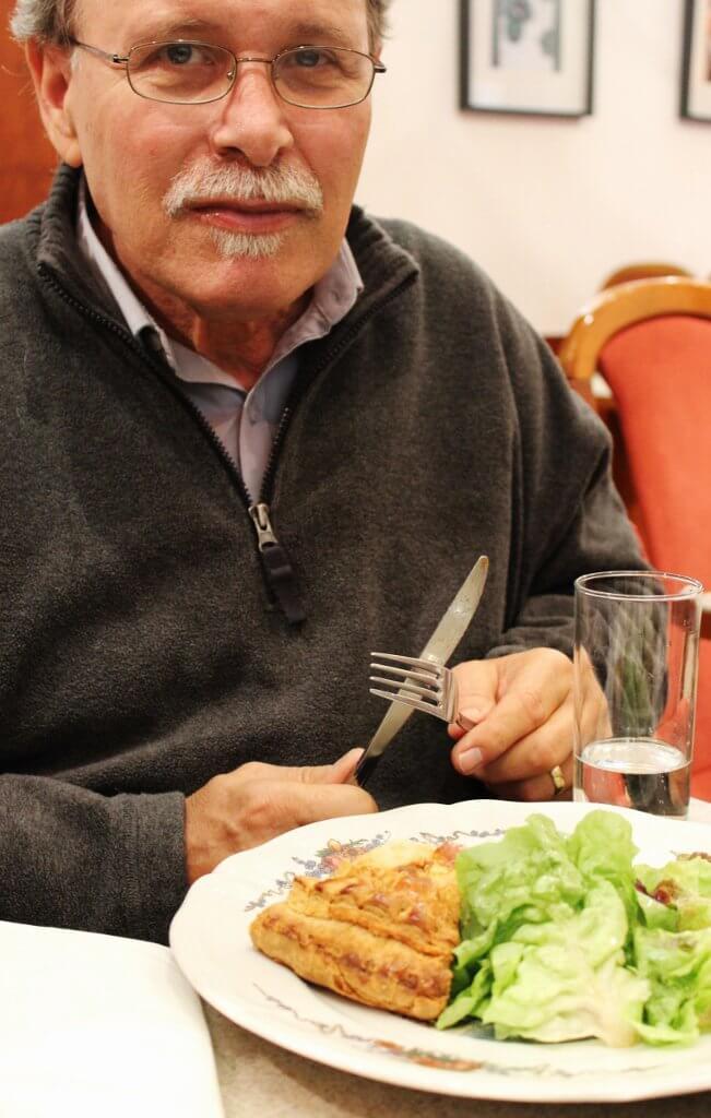Quiche Lorraine for lunch at a Strasbourg café. Photo source: Judith Salecich 2015.