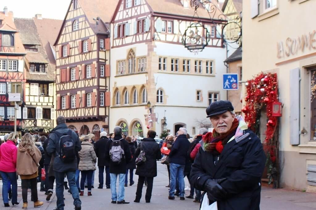 Amidst the crowds of the Old Town, Colmar, France. Photo source: Judith Salecich 2015.