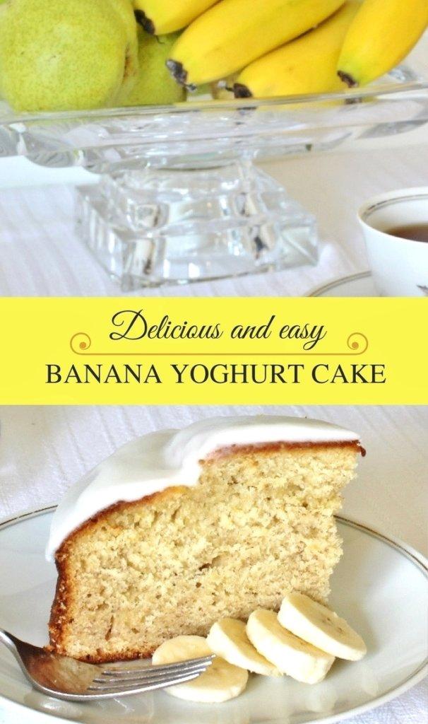 Delicious and easy Banana Yoghurt Cake. Photo source: Judith Salecich 2016.