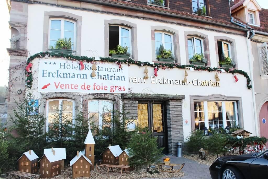 Hotel Restaurant Erckmann Chatrian, Phalsbourg, France. Photo source: Judith Salecich 2015.