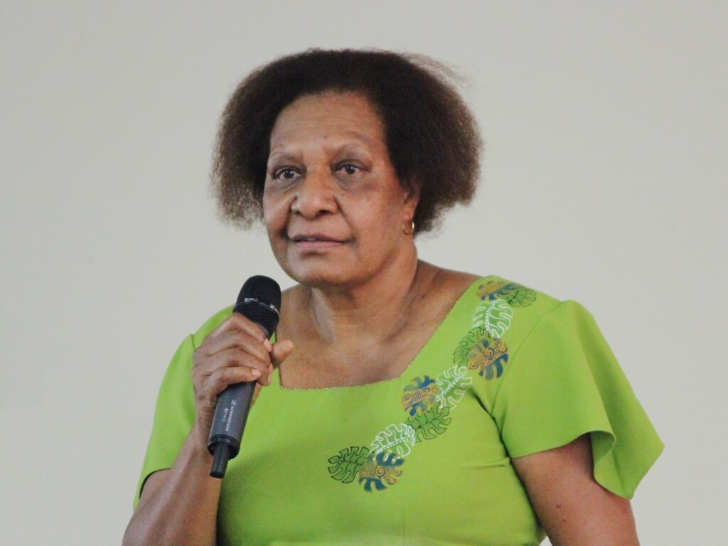 Professor Betty Lovai spoke in honour of Alwyn and Fay. Photo source: Judith Salecich 2016.