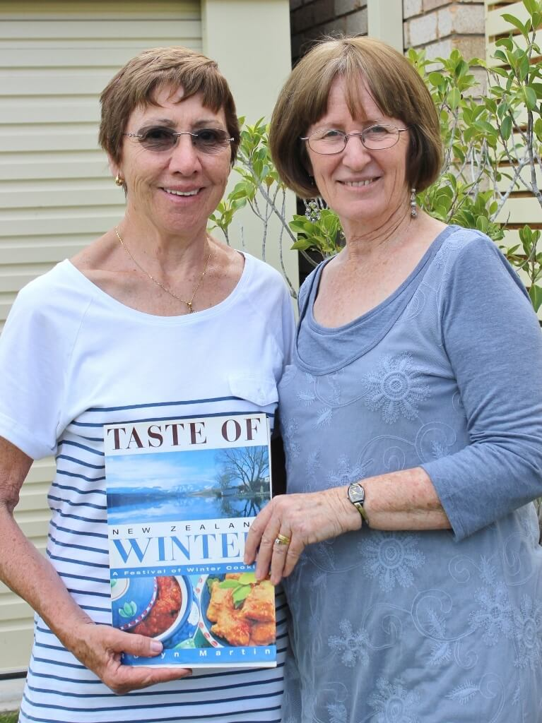 Best friends and the 2006 gift recipe book. Photo source: Tony Salecich 2016.