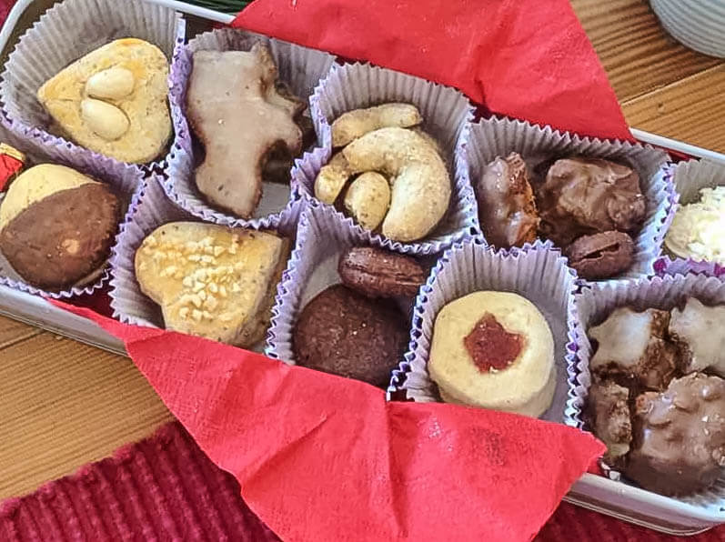 Wonderful homemade German Christmas biscuits. Photo source: Judith Salecich 2015.