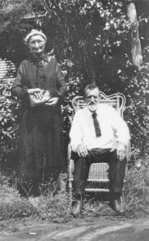 c.1940, Yeppoon. Thomas and Elizabeth Beaumont.