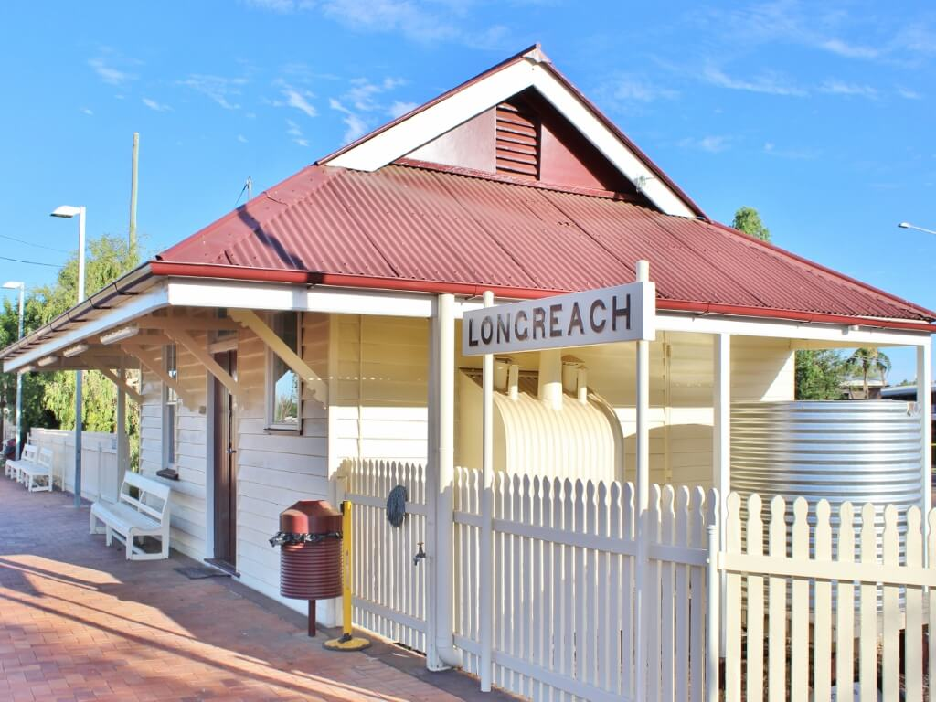 Former Refreshment Rooms, Longreach Railway Station. Photo source: Private collection 2017.
