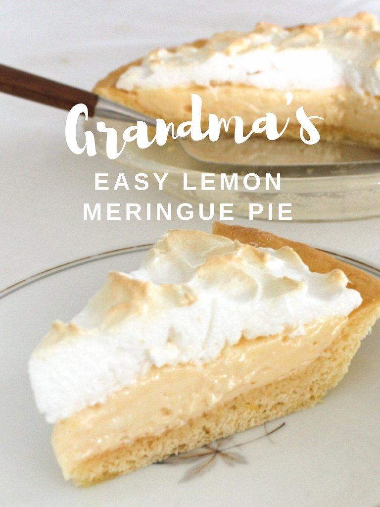 Grandma's Easy Lemon Meringue Pie. Photo source: Judith Salecich 2017.