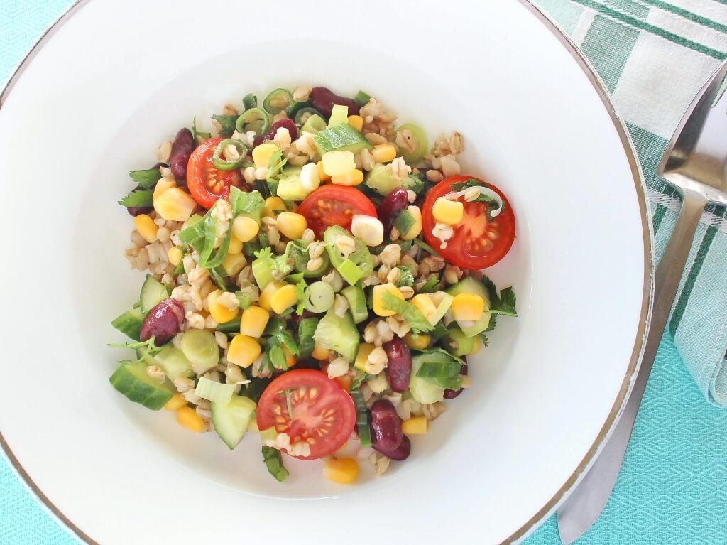 Pearl Barley Salad. Photo source: Judith Salecich 2017.