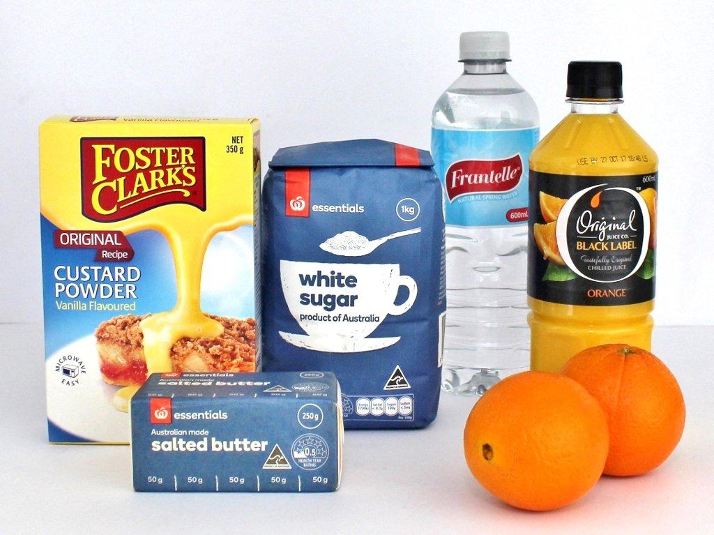 Ingredients: Orange jelly filling. Photo source: Judith Salecich 2018.