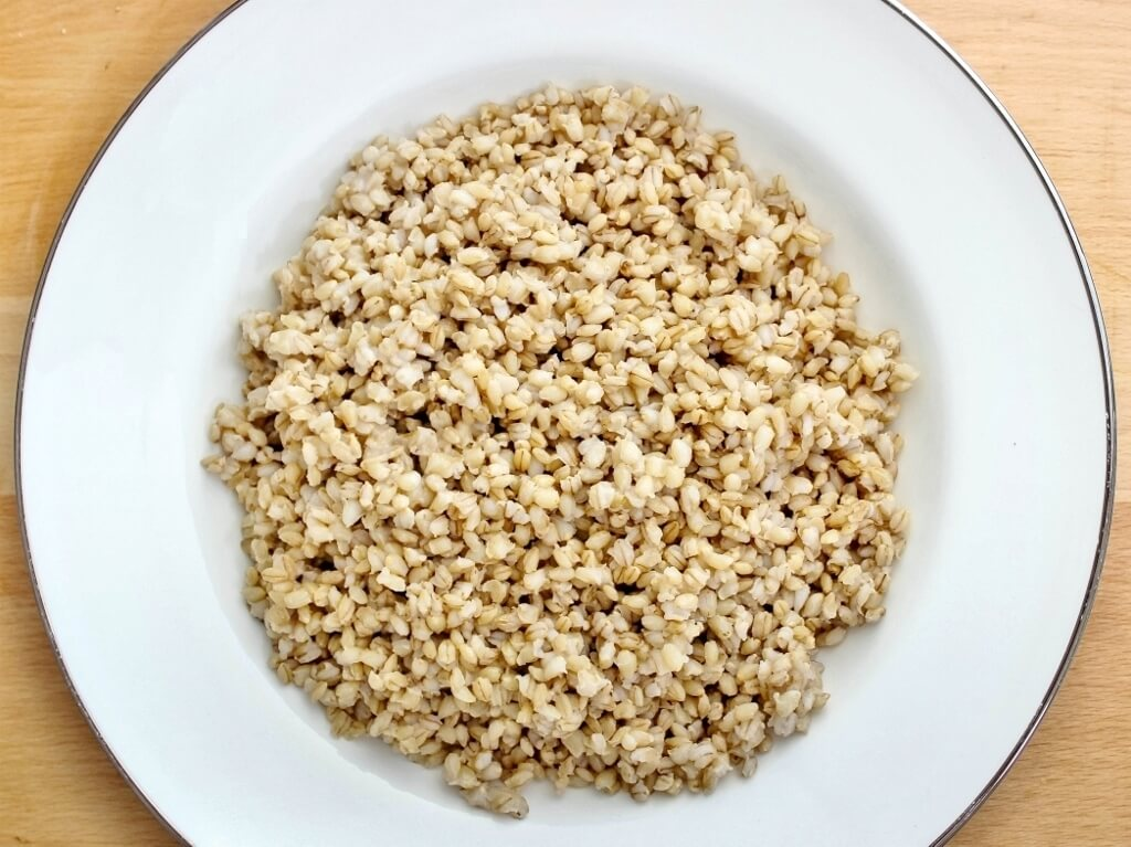 Pearl barley cooked. Photo source: Judith Salecich 2017.