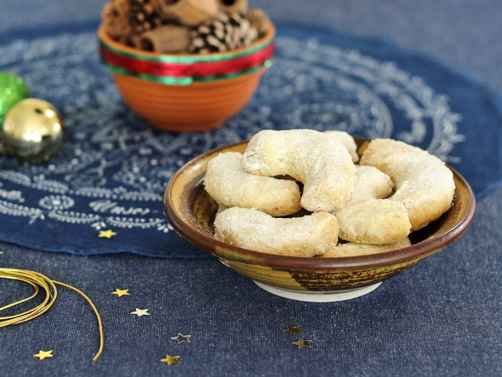 """Vanillekipferl (""""Vanilla Crescents"""") are popular Christmas sweets in many European countries. Photo source: Judith Salecich 2018."""