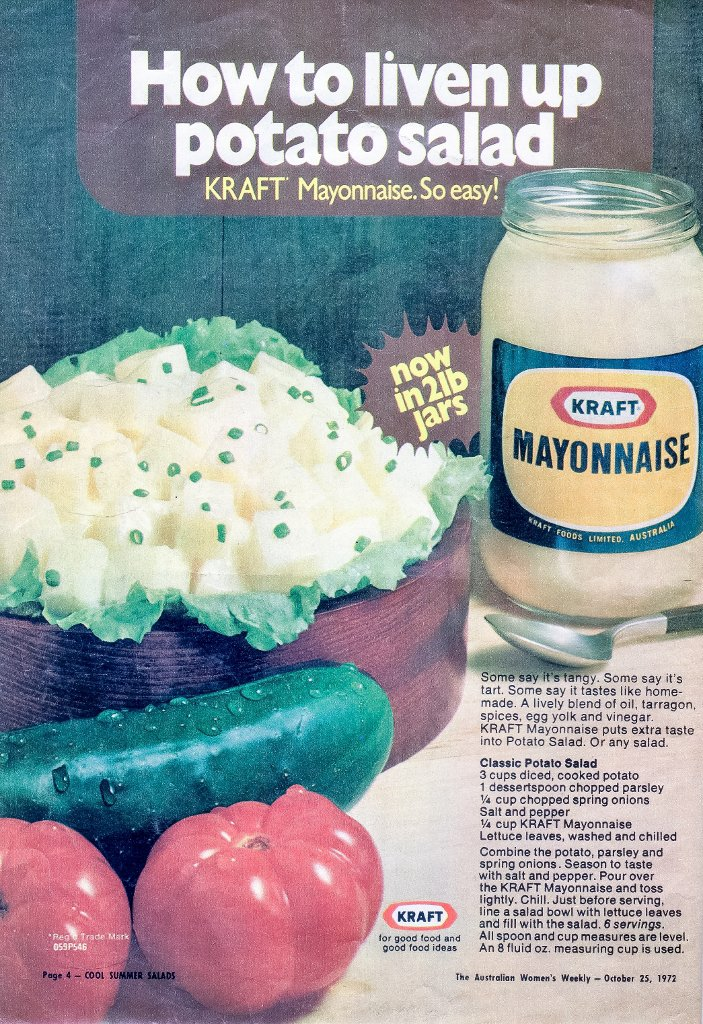"""""""Cool Summer Salads"""" (1972), page 4."""