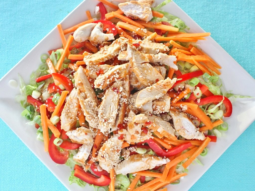Salad with Noodles and Chicken. Photo source: Judith Salecich 2018.