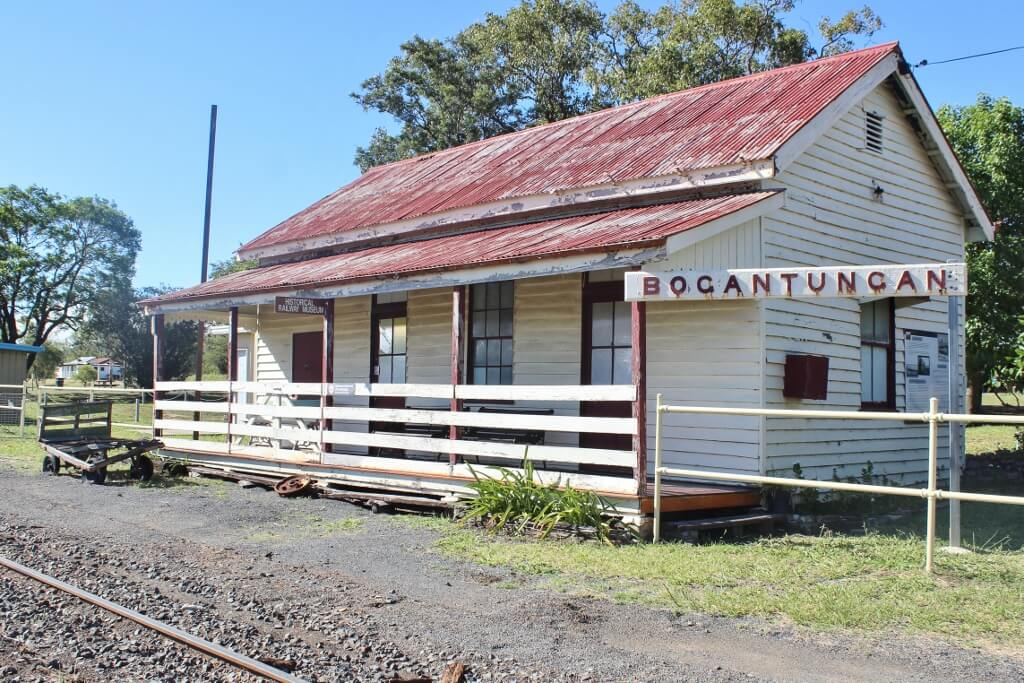 The former Bogantungan Railway Station, now a museum. Photo source: Private collection 2017.
