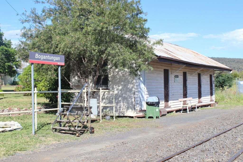 The former Bogantungan railway station refreshment rooms. This is an original building, built between 1916 and 1924. Photo source: Private collection 2017.