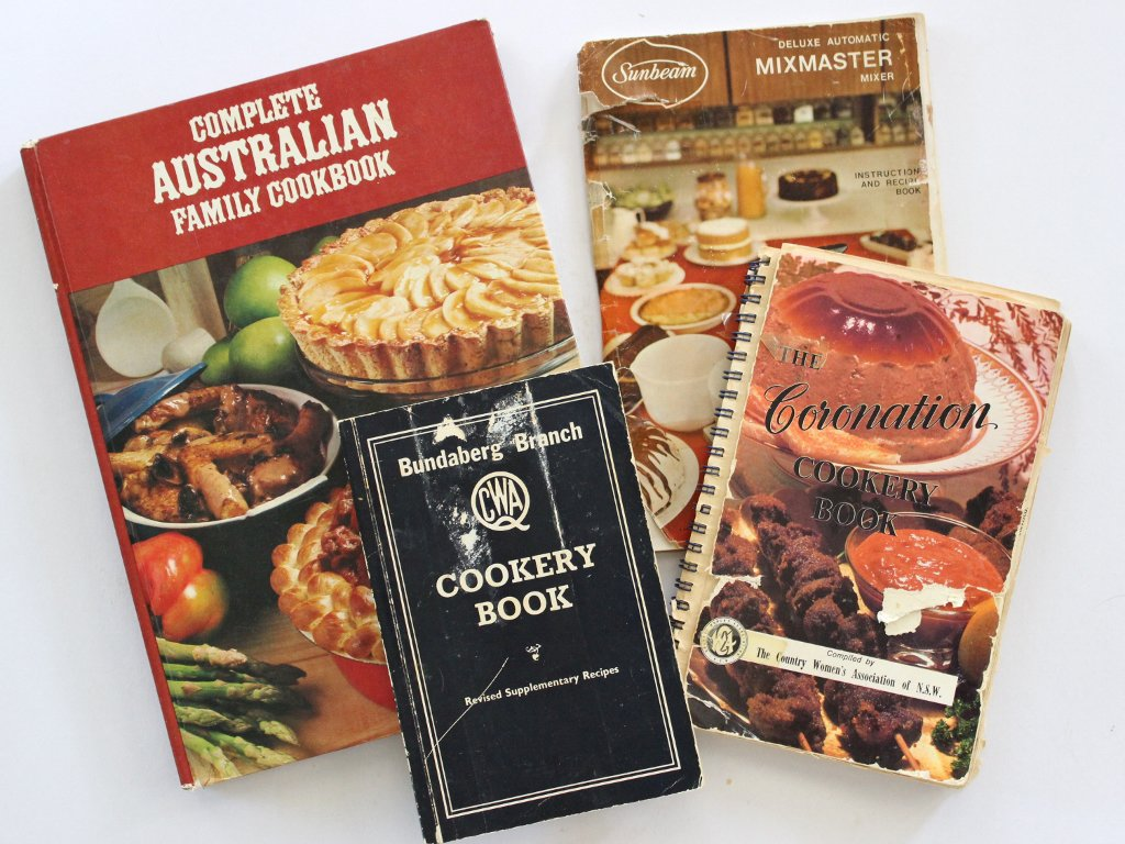 My 1970s cookery books. Photo source: Judith Salecich 2018.