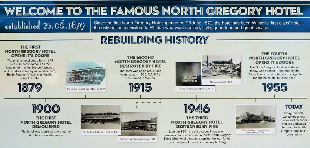 This image has an empty alt attribute; its file name is Rebuilding-History-sign-front-wall-North-Gregory-Hotel-Winton.jpg