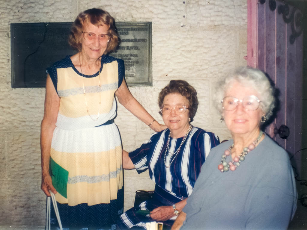 1994. My mother, Evelyn, with Thelma and a friend of Thelma's, Jean Crossan, at a Capricornia Silver Band Christmas concert, St Paul's Cathedral, Rockhampton. Photo source: Proposch Family archives.