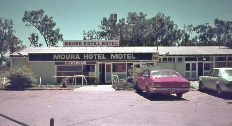1970s. Moura Hotel Motel. Photo source: My late father's slide collection.