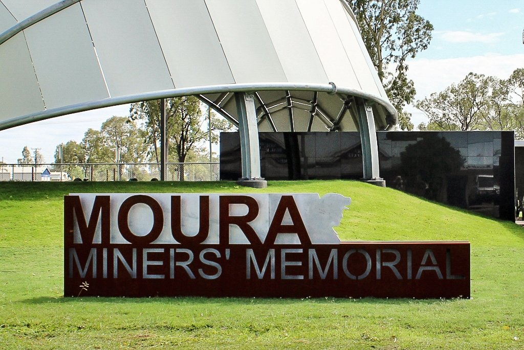 The Moura Miners' Memorial. Photo source: Judith Salecich 2018.