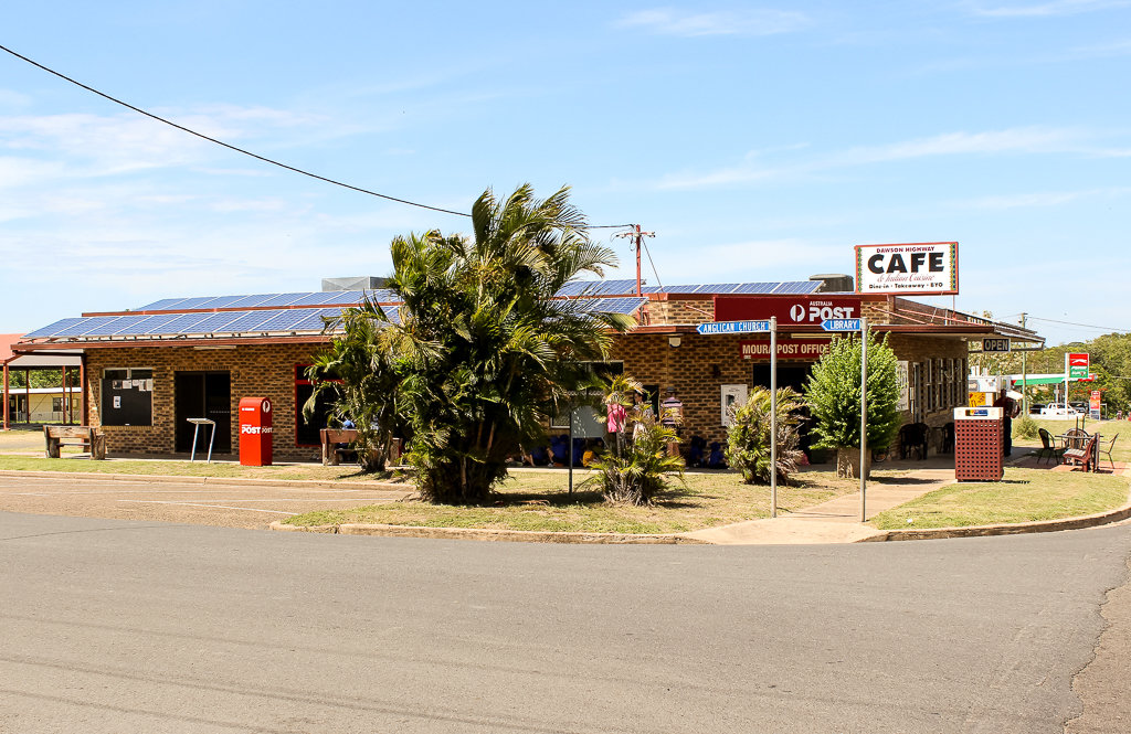 The Moura Post Office, corner of Young Street and Dawson Highway. Photo source: Judith Salecich 2018.