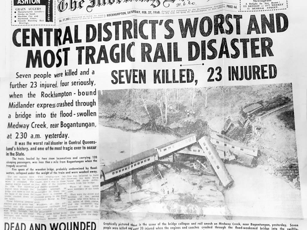 "1960, 27 February. Headlines in ""The Morning Bulletin"" (Rockhampton)."
